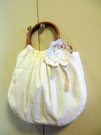 春色リバーシブルバッグ(白)