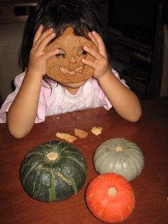 娘とクッキーとかぼちゃ