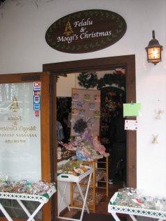 萌木のクリスマス店の入り口