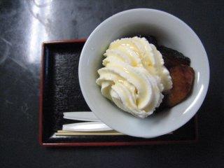 かぼちゃのアイスクリームのせ