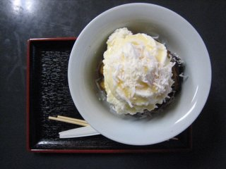 大学芋のアイスクリームのせ