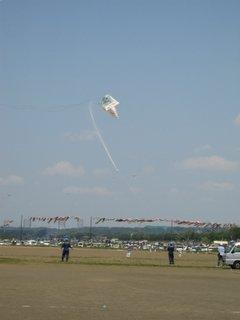 他の凧が失速