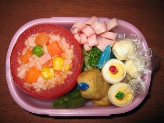 トマトカップのお弁当