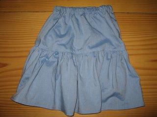 手作りの子どものスカート