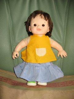 ぽぽちゃん人形手作りの服