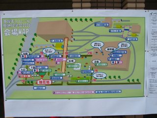 見学会、会場の地図
