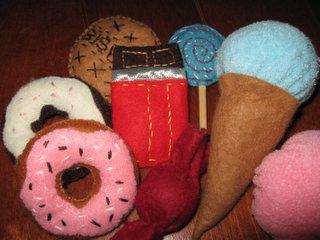 布おもちゃ 洋菓子
