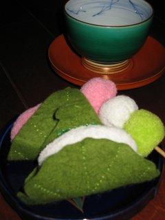 布おもちゃ 和菓子