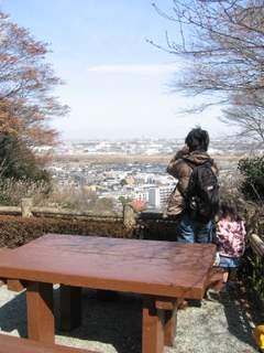 百草園から街を眺める