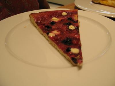 サマーベリーのピザ