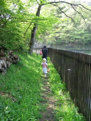 頭佐沢ダムの周りを歩く