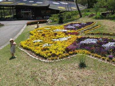 オオムラサキセンターの前の花壇