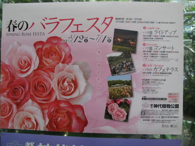 神代植物公園 バラフェスタ ポスター