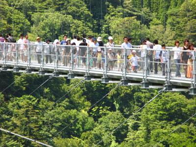 人わんさかの大吊り橋