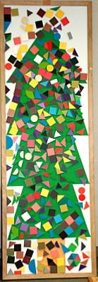 マグネットボードのクリスマスツリー