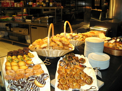 ケンピンスキホテルの朝食