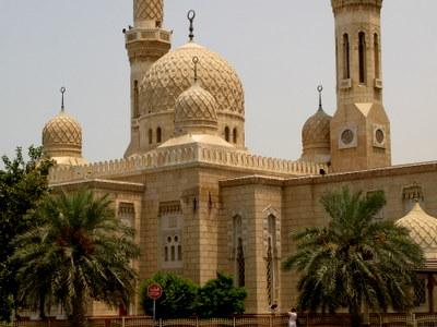 ジュメイラ・モスクのアップ