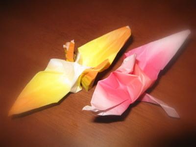 アンが折った折り鶴