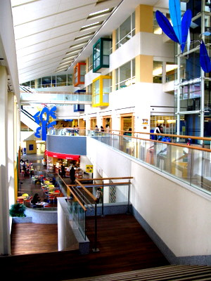 国立成育医療センター1階から見たB1