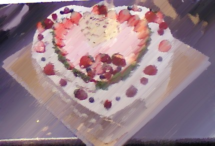 ハートのケーキ
