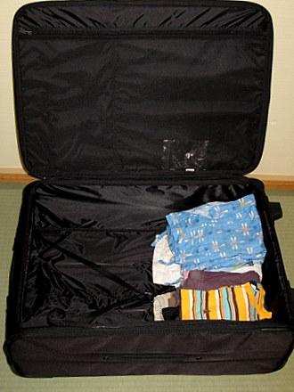 たためるスーツケース (組み立て時)