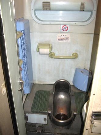 ソロのデッキのトイレ