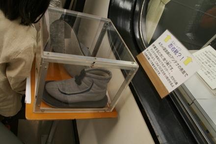 電波望遠鏡の上を歩く靴