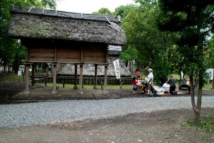 登呂遺跡の弥生時代体験の場所