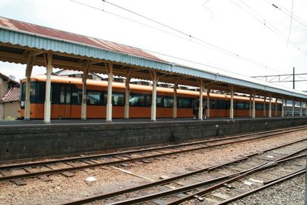 新金谷駅のホーム
