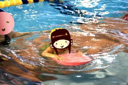 アンの水泳練習