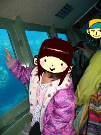 海中遊覧クルージング中のアン