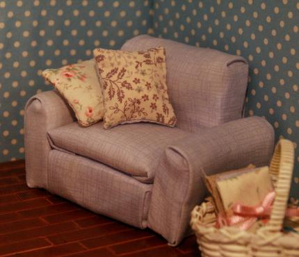 ドールハウス、ひとり掛けソファ