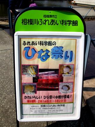 相模川ふれあい科学館のポスター