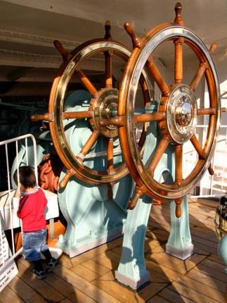 日本丸の舵