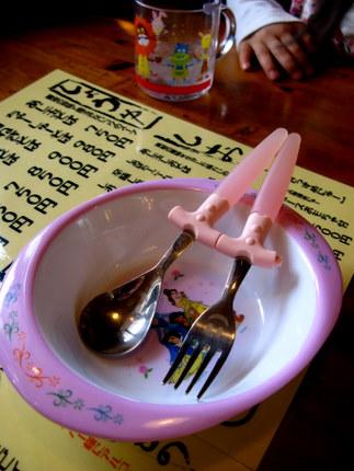 子ども用の取り皿とカトラリー