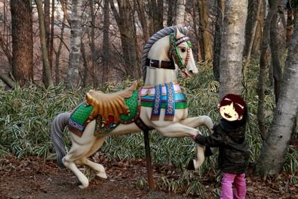メリーゴーランドの木馬?