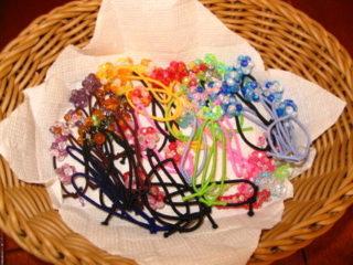 ビーズボールの髪飾りの作り方