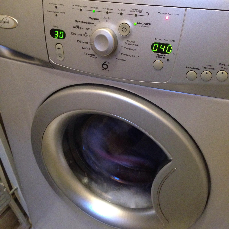 フランス滞在|洗濯機のボタンが解読できない。。。