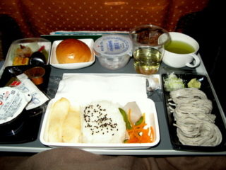 シンガポール航空の行きの機内食