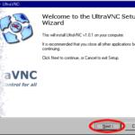 UltraVNCでPCの遠隔操作